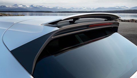 Deployable pop-up rear spoiler on new 2018 Porsche Cayenne Turbo