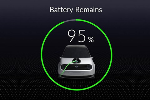 Honda Urban EV dashboard charging