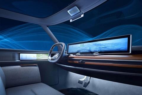 Urban EV concept interior