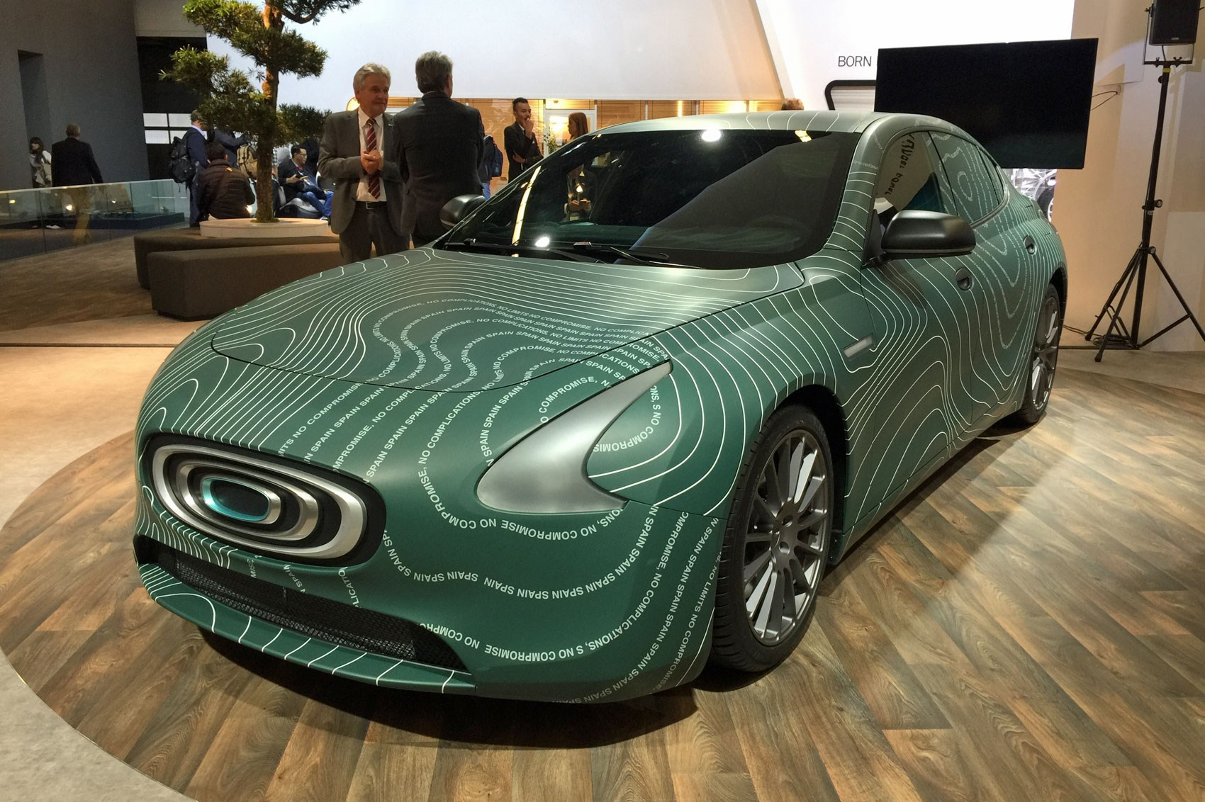 Thunder Power electric cars at the 2017 Frankfurt motor show
