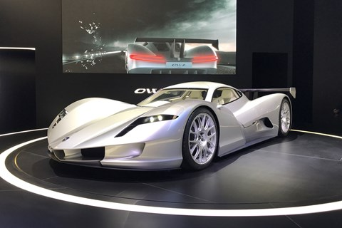 Aspark Owl all-electric supercar at Frankfurt 2017 - front