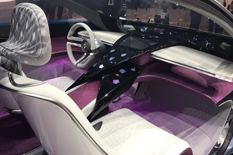 Borgward Isabella concept interior at Frankfurt 2017
