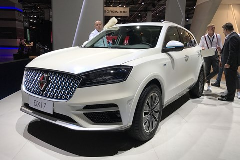Borgward BXi7 SUV at Frankfurt 2017