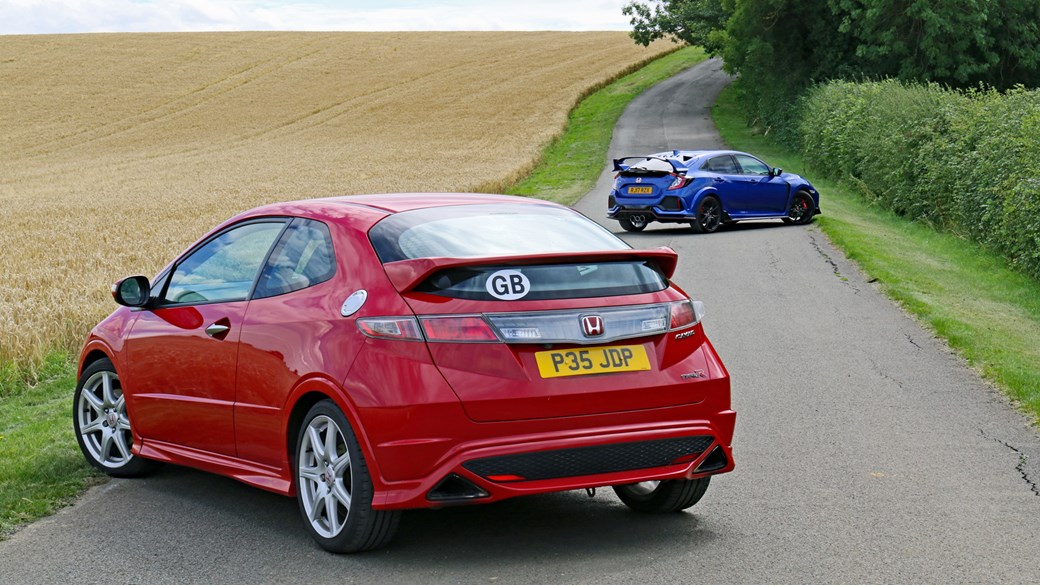 Honda Civic Type R old and new