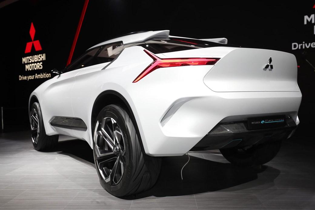 Rear Of The Mitsubishi E Evolution Concept At Geneva 2018