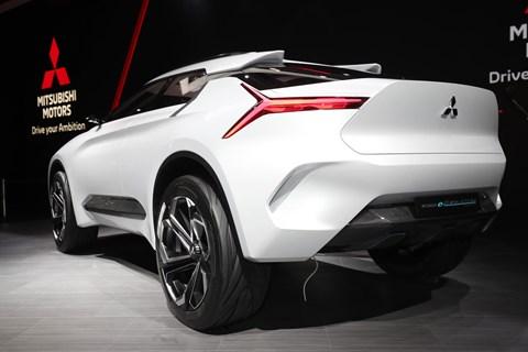 Rear of the Mitsubishi e-Evolution concept at Geneva 2018