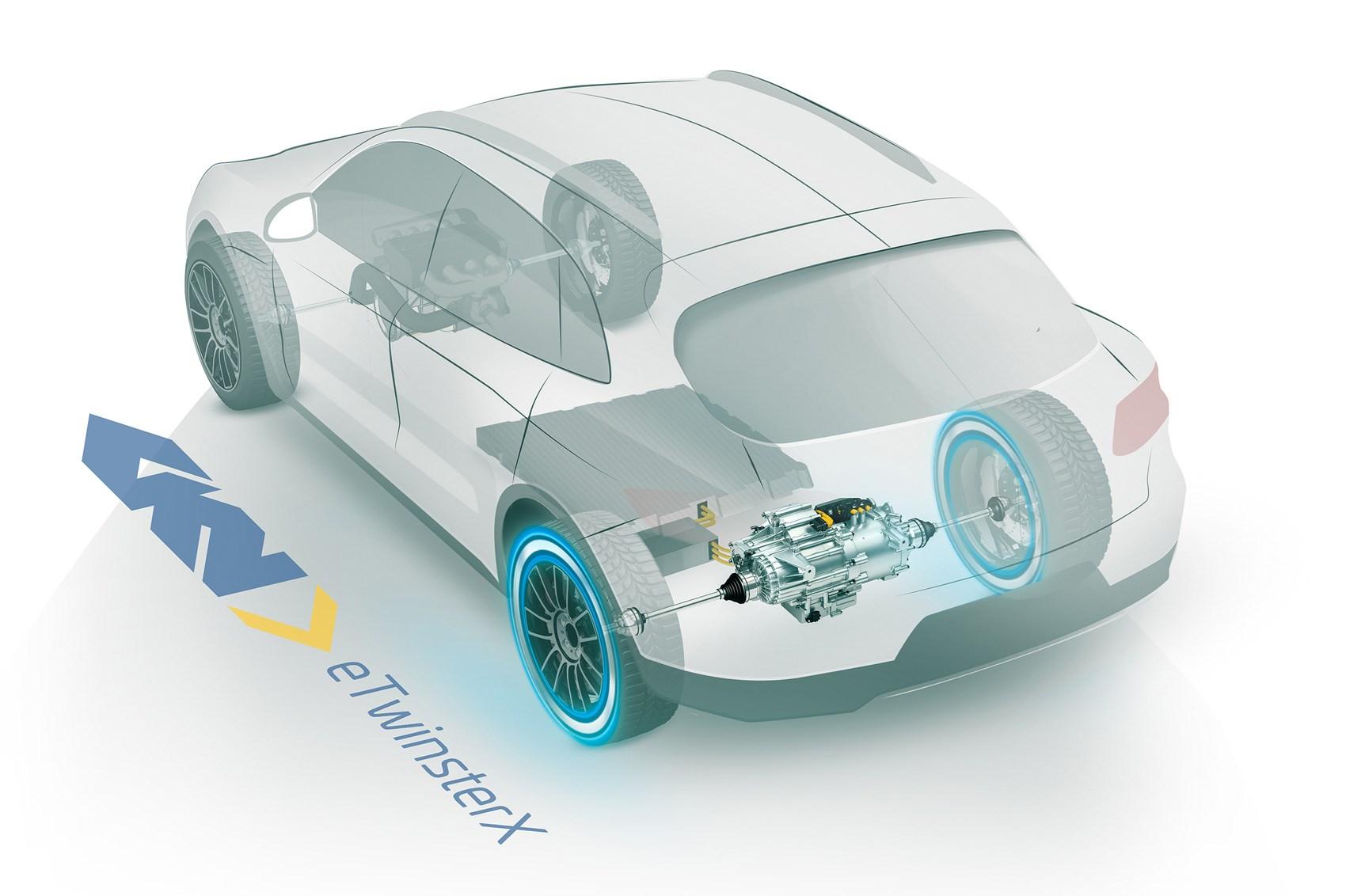 GKN eTwinster X electric rear axle torque vectoring concept