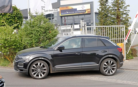 VW T-Roc R spy photos: a hot hatch on stilts