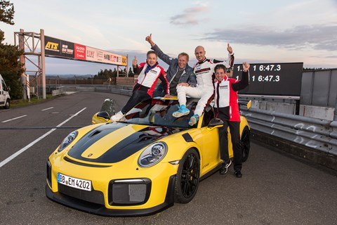 Porsche 911 GT2 RS at the Nurburgring