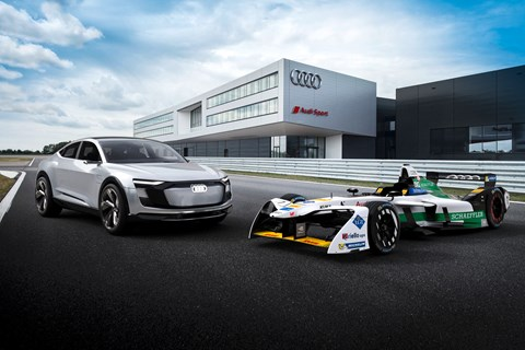 Audi e-tron and Formula E car