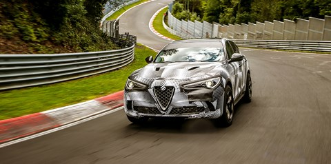 Alfa Romeo Stelvio Quadrifoglio at the Nurburgring