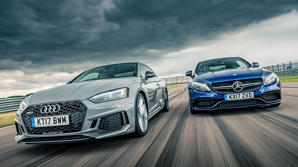 Audi RS5 vs Mercedes-AMG C63 S twin test review