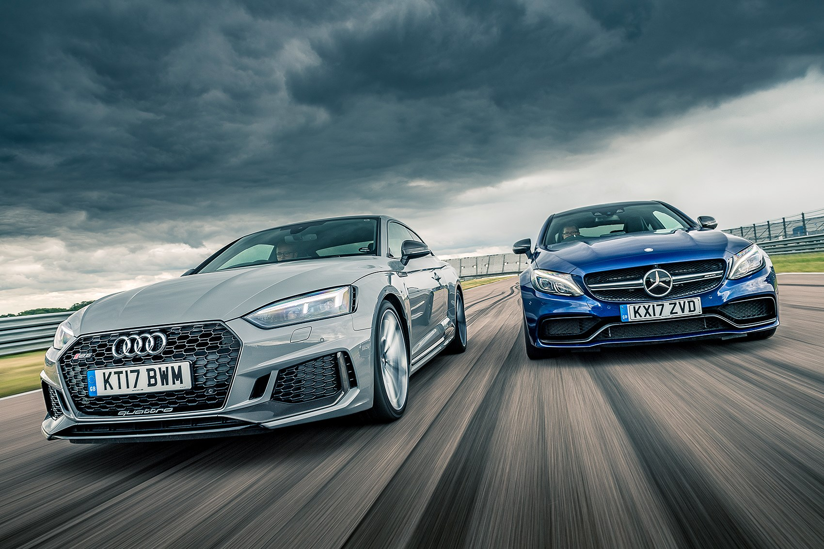 audi rs5 vs mercedes amg c63 s twin test review by car magazine. Black Bedroom Furniture Sets. Home Design Ideas