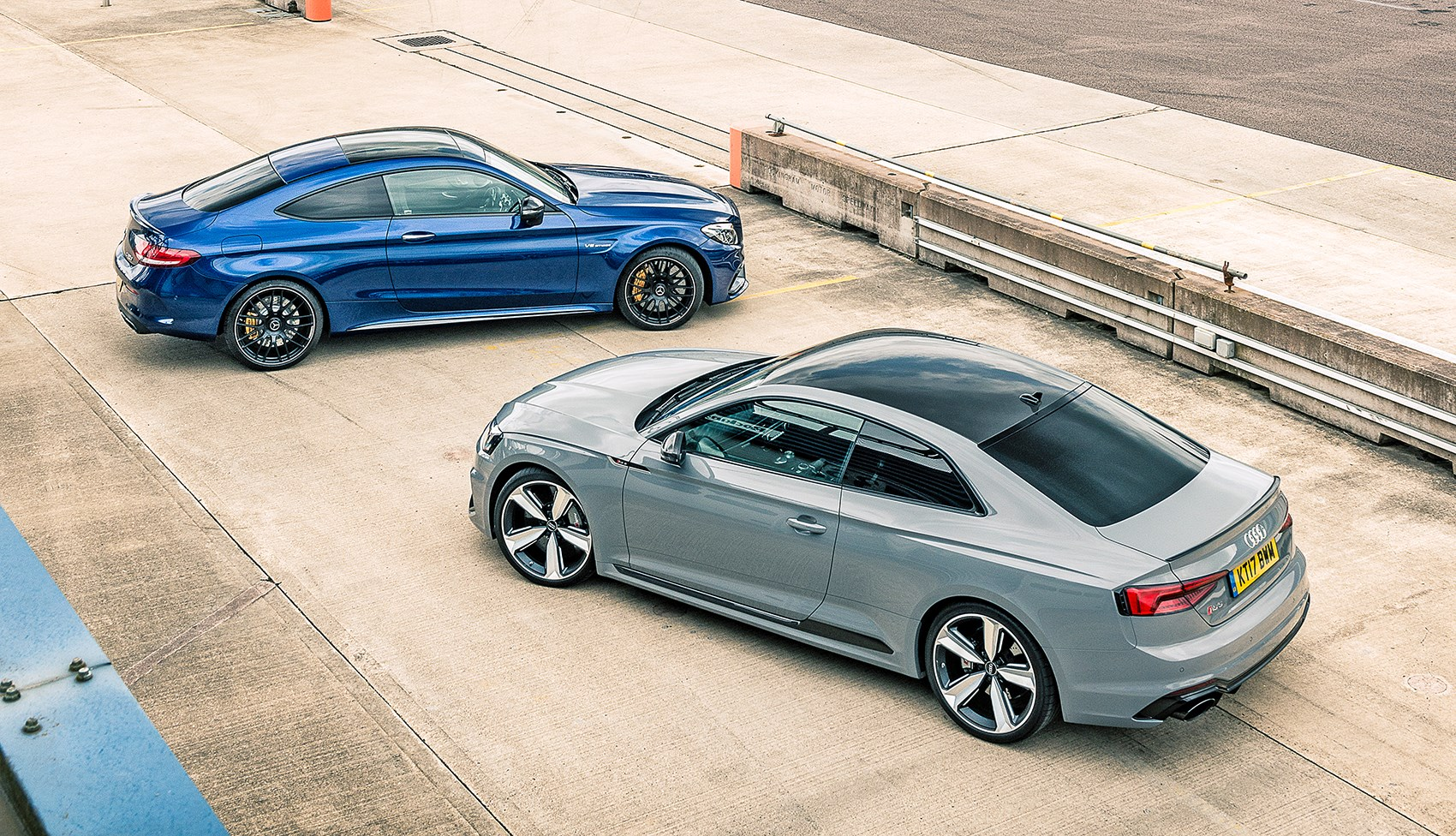 Audi RS5 vs Mercedes-AMG C63 S twin test review | CAR Magazine