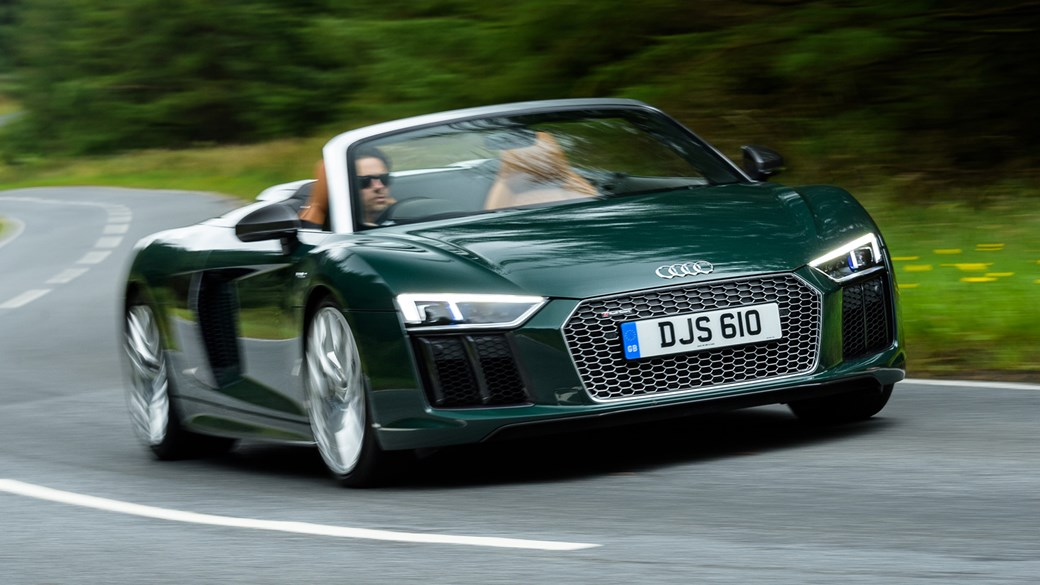 Audi R Spyder V Plus Review CAR Magazine - Audi r8 v10 spyder