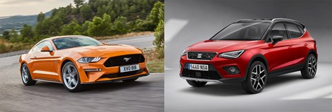 Ford Mustang and Seat Arona