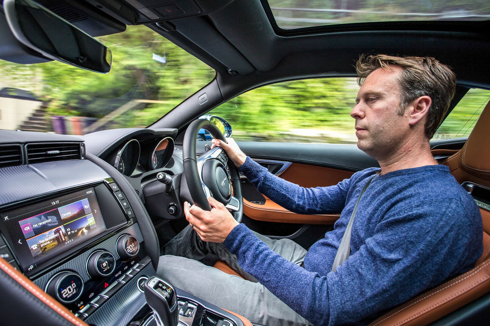 Jaguar F-type 4cyl Ben driving