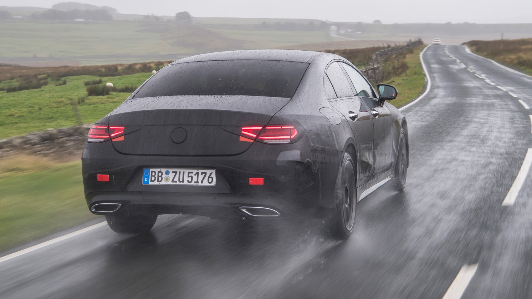 Mercedes CLS pre-production rear tracking