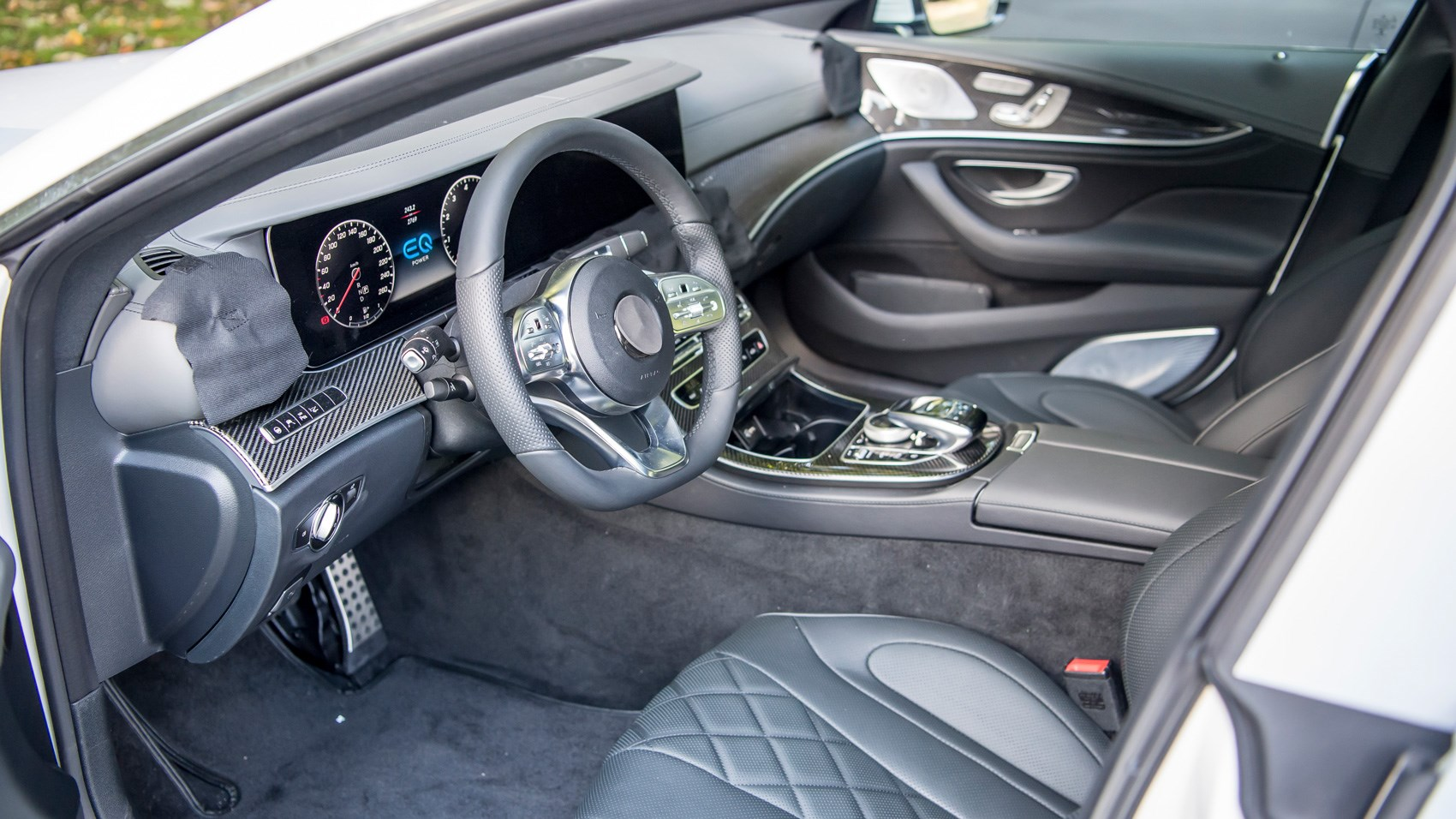 Mercedes CLS pre-production interior
