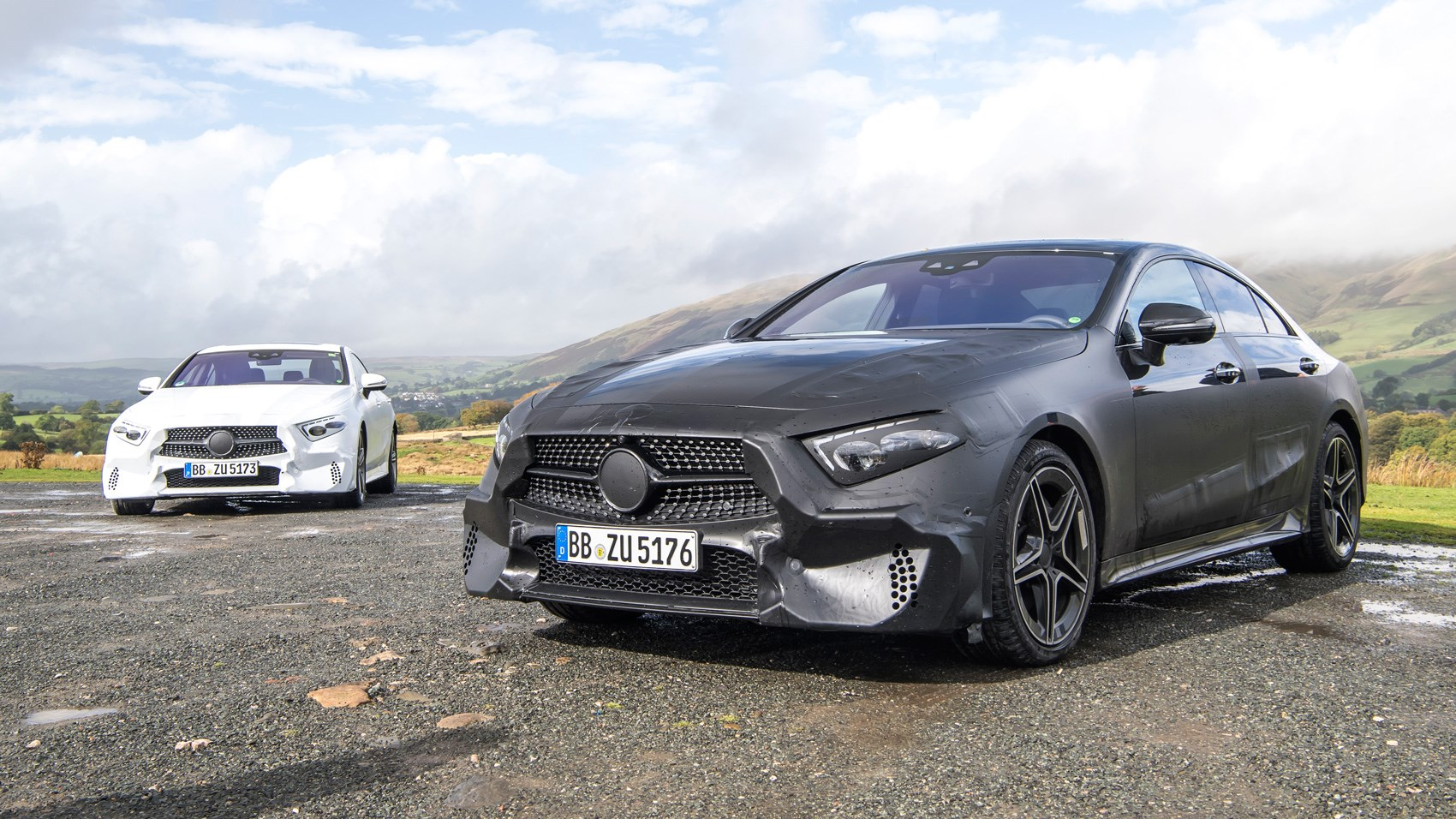 Mercedes CLS pre-production twin