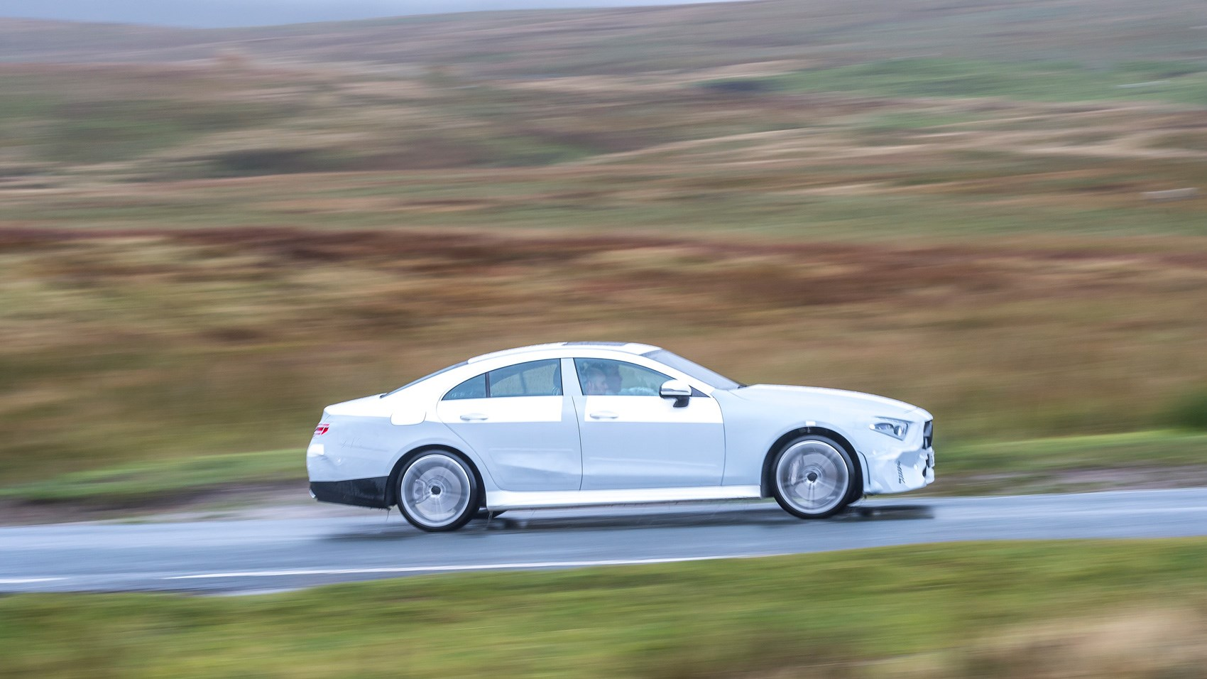 Mercedes CLS pre-production side panning