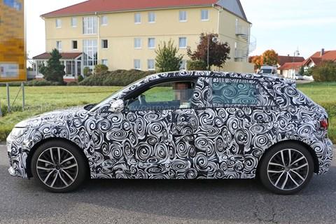 Audi A1 spyshot