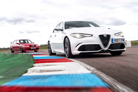 Alfa Giulia Quadrifoglio meets its touring car heroes