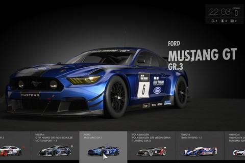 GT Sport car select