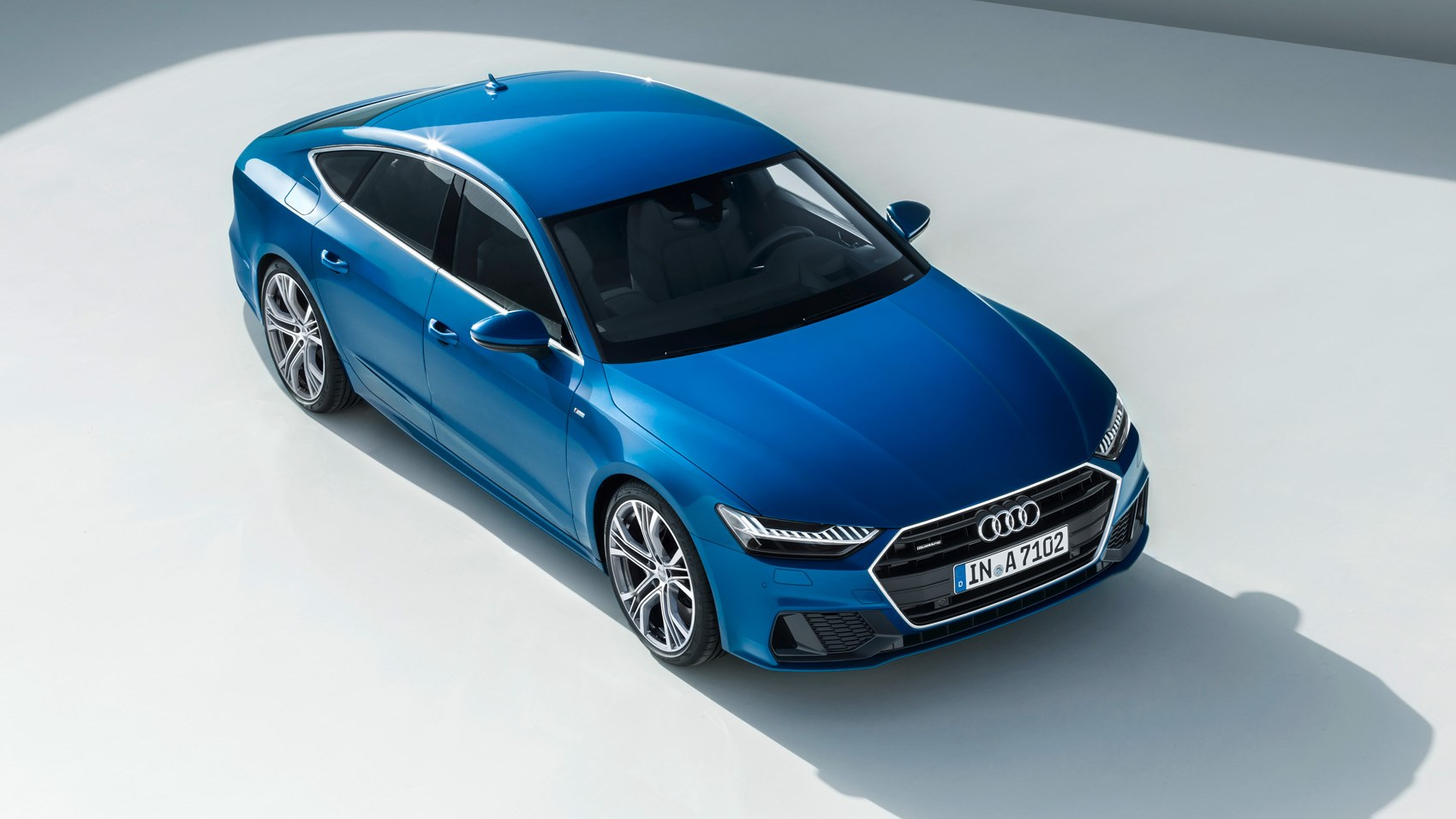 first look 2018 audi a7 the a8 s sleek and sporty new. Black Bedroom Furniture Sets. Home Design Ideas