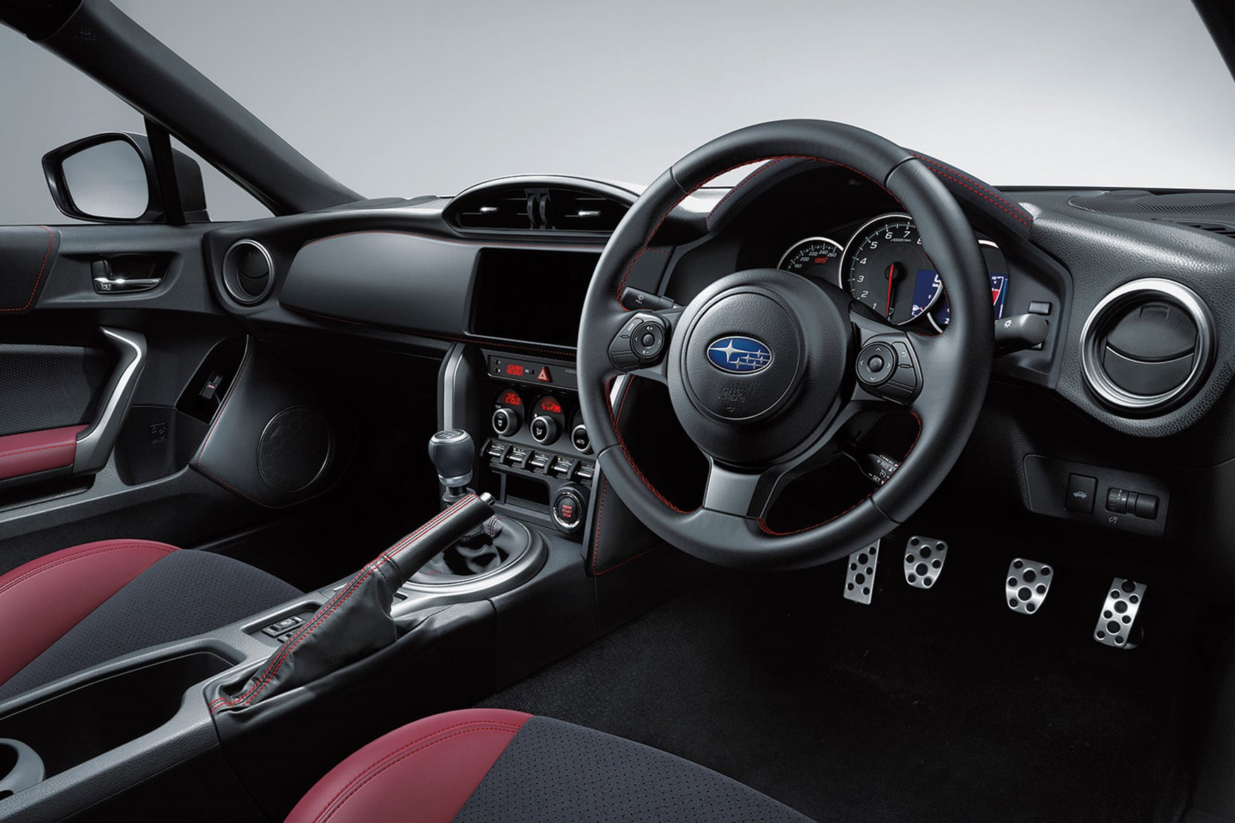 ... Car Series In Japan Inside The Subaru BRZ STI Sport   Note Real Leather  Bits, And Extra Bordeaux Red ...