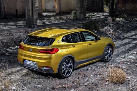 BMW X2 rear quarter