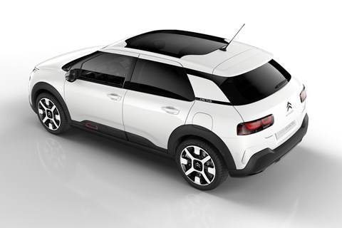 Citroen C4 Cactus white rear quarter