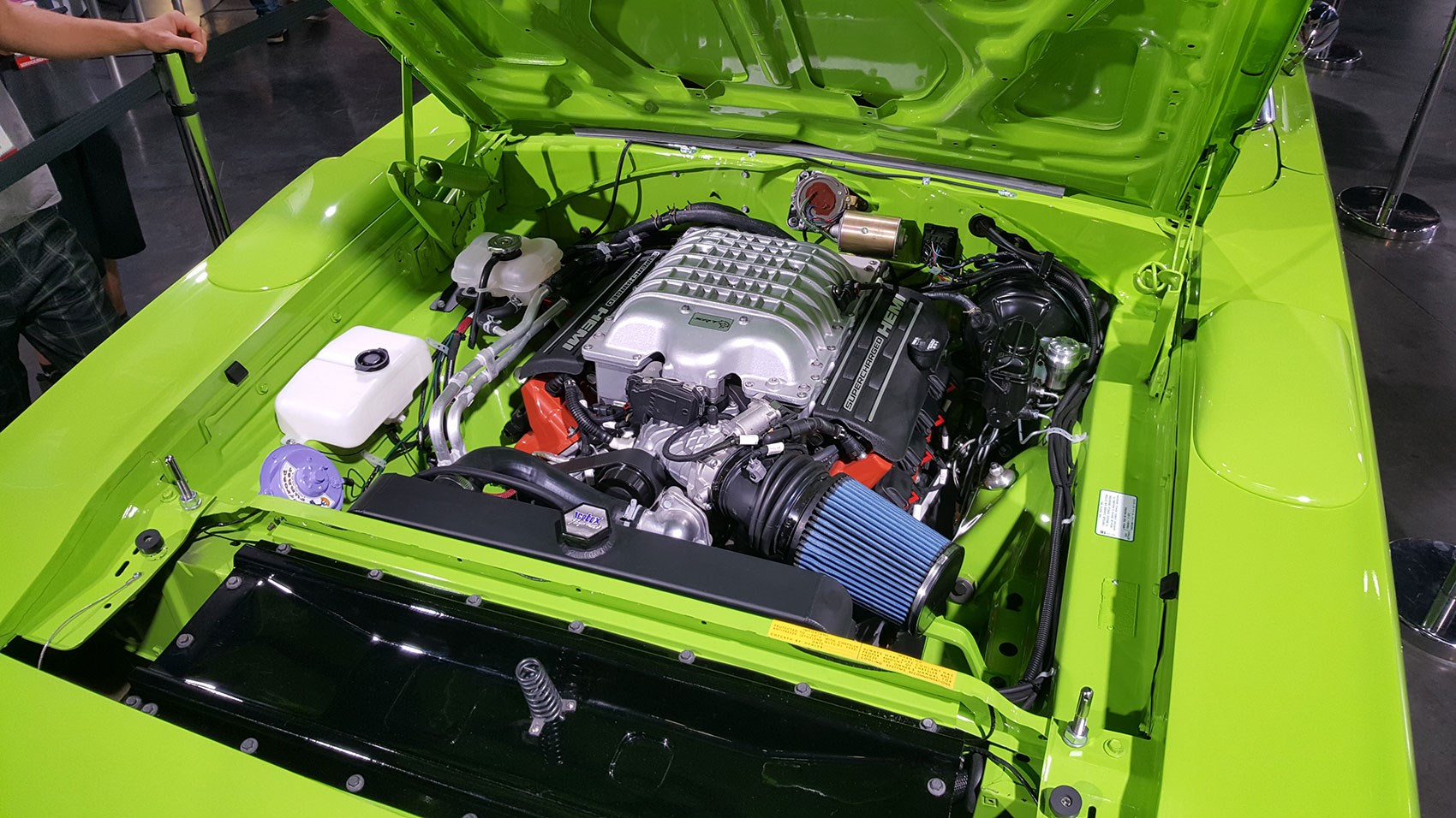 Plug And Play The Dodge Hellcrate Is A 697bhp V8 In Box Car Kia To Boss Wiring Engine Was Demod At Sema Under Bonnet Of 1970 Superbird Tribute Build