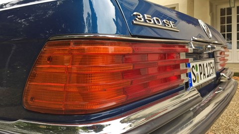 Benz aficionados go weak-kneed at mention of the 450SEL 6.9 edition of the W116 (we'll gloss over that it was really only a 6.8), but that imperious V8 rumble was available for a more modest sum in the guise of the 350SE
