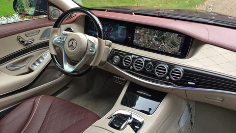 Touch pads on the wheel and a single pane of glass for the double-width instrument display and multimedia system