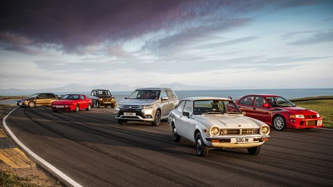 Mitsubishi's all-time classics at Anglesey