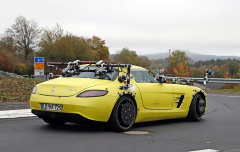 Mercedes SLS E-Cell on test for autonomous driving systems