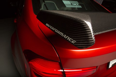 Carbonfibre rear wing for one-off BMW M3