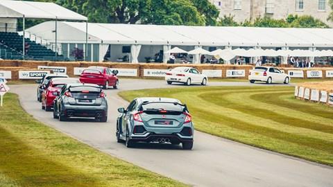 Honda Type R parade Goodwood 2017
