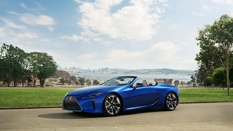 Lexus LC Convertible: another 2019 LA motor show debutant