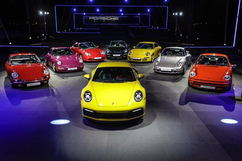 Porsche 992 at Los Angeles auto show
