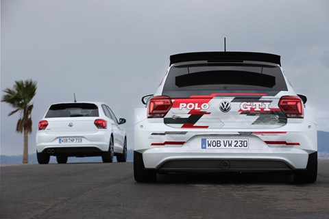VW Polo R5 rear
