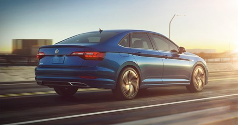 The new 2018 VW Jetta: freshly unveiled at the Detroit motor show