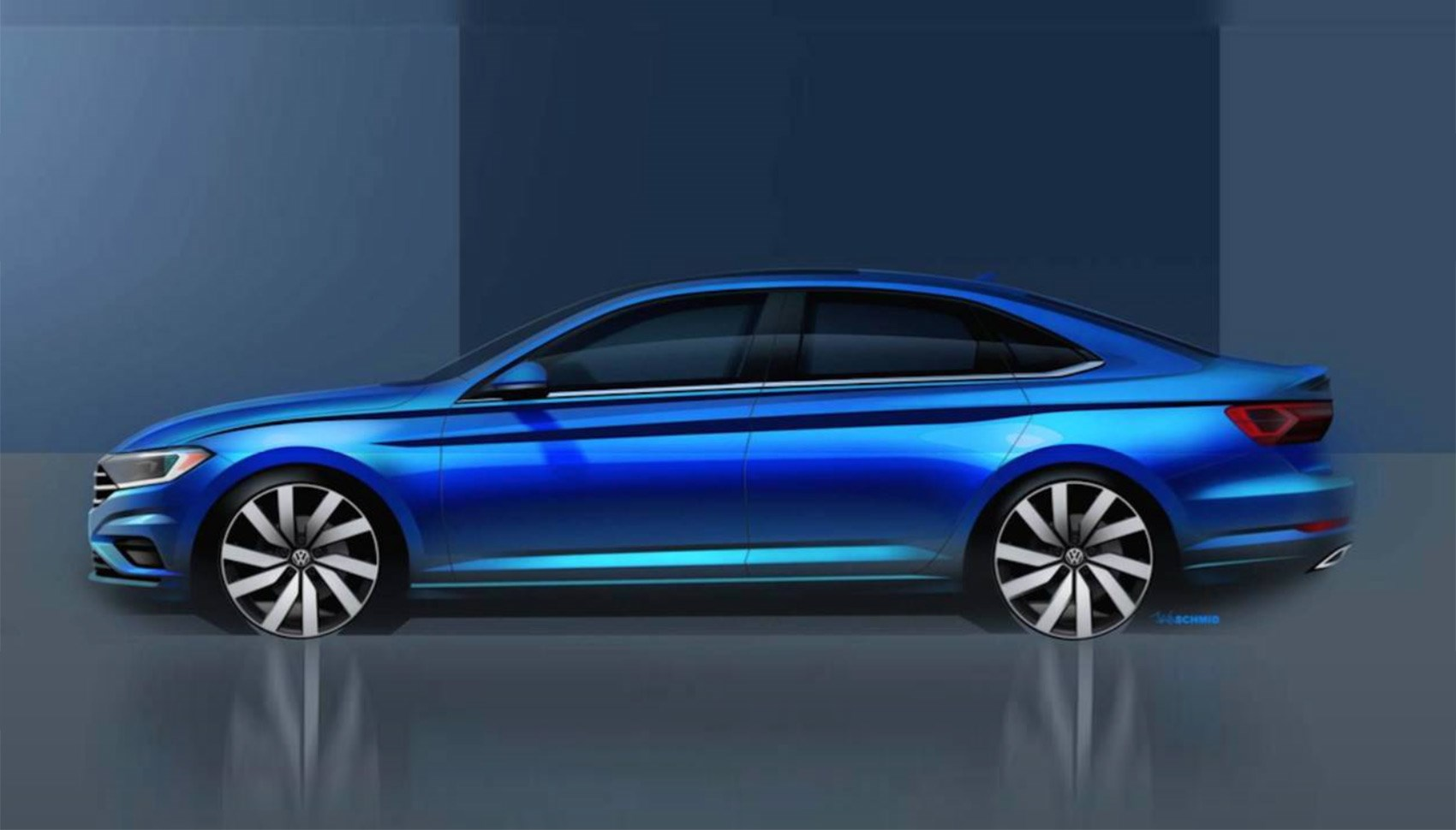 Official Design Sketch Of The New Vw Jetta Due At 2018 Detroit Motor Show