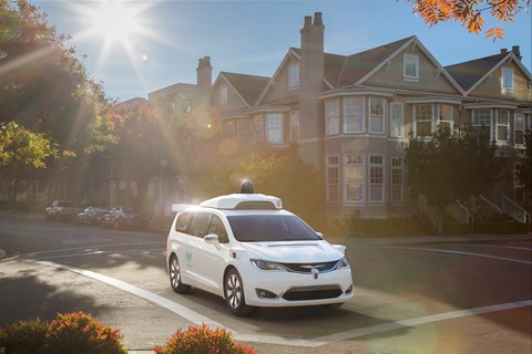 Google's Waymo driverless taxi: a Chrysler Pacifica