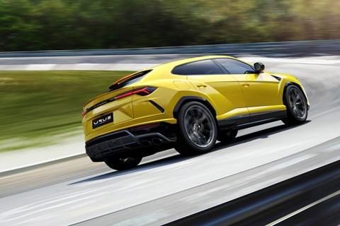 Lamborghini Urus carousel rear tracking