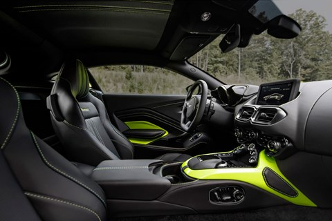 Inside cabin of new 2018 Aston Martin Vantage interior