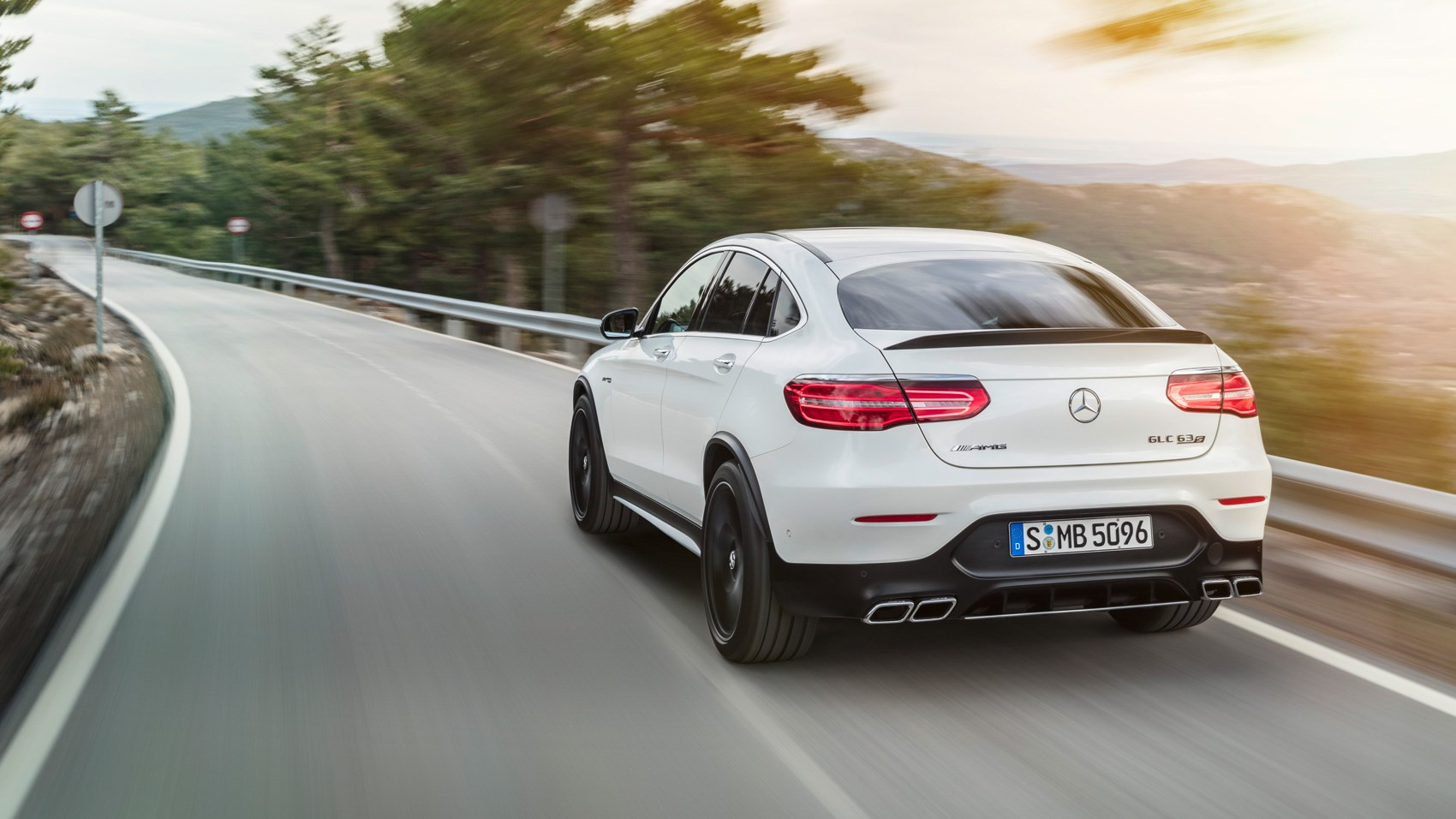 Mercedes-AMG GLC63 S 4Matic Coupe rear tracking
