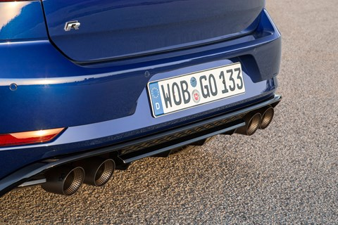 VW Golf R Performance Pack exhaust