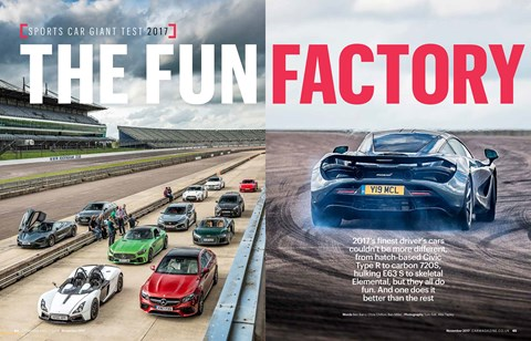 CAR magazine November 2017: check out the full Sports Car Giant Test